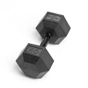 Element Fitness Virgin Rubber Commercial Hex Dumbbells - low odour- 20kg