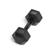 Element Fitness Virgin Rubber Commercial Hex Dumbbells - low odour- 9.1kg