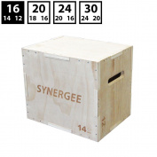 Synergee 3 in 1 Wood Plyometric Box for Jump Training and Conditioning. Wooden Plyo Box All In One Jump Trainer. Sizes 30/24/20, 24/20/16, 20/18/16, 16/14/12