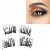 2017 NEW ! Magnet Eyelashes 3D Reusable False Magnet Eyelashes Extension