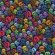 colourful SKULL AND CROSSBONES V1 Printed Sign Vinyl by StickerDad - Size