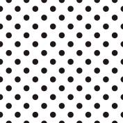 BW POLKA DOTS V1 Printed Sign Vinyl by StickerDad - Size