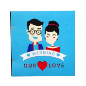 LANNA SHOP- Creative Cartoon Photo Album,Handmade Couple Anniversary Scrapbook DIY Album,Wedding Memo Photos Album