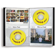 Pioneer Photo Albums Pioneer 96-pocket Black Leather Photo and CD Album