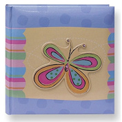 Pioneer Photo Albums Pioneer 3D Striped Butterfly Applique 4x6 Photo Album