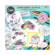 Sizzix Colouring Sendables - 661947 Just for You by Katelyn Lizardi