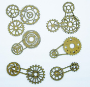 Creative Embellishments Gear Cluster Laser Cut Chipboard - 12 piece set