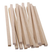 MagiDeal 20 Pieces 20cm Square Wood Stick Pieces Wooden Dowel for Making Trunk Pole Hobby Craft 10mm