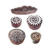 Arty Crafty Motif Cloud and Religious Block Print Wood Stamps