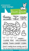 Lawn Fawn Clear Stamp Set - How You Bean. Candy Corn Add-On