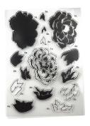 Zeroyoyo 1 Sheet Silicone Transparent Stamp Seal Big Peony Flower DIY Scrapbooking Album Clear Stamps