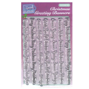 Sweet Dixie SDCSA6145 Festive A6 Clear Stamp Set Christmas Greeting Banners