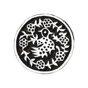Indian Hand Carved Circular Wooden Textile Printing Block Clay Potter Craft Heena Tattoo Scrapbook Stamps