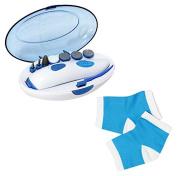 PU Beauty Touch of Diamonds Multi Ultimate Manicure & Pedicure Care Kit with Fine Buffer and Moisturising Heel Socks