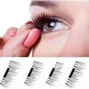 Ultra-thin Magnetic Eye Lashes 7mm 3D Reusable False Magnet Eyelashes A