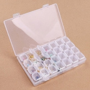 Ruier hui Transparent Beauty Makeup Nail Cosmetic Case Jewellery Tool Container with 28 rooms