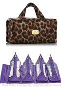 JOY Mangano Travel Sized Better Beauty Case ~ Leopard