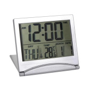 Dreammy Digital LCD Clock Weather Forecast Clock Folding Desk Temperature Travel Alarm Clock New