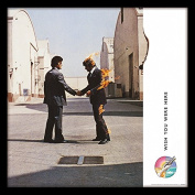 "Pink Floyd ""Wish You Were Here"" Album Cover Framed Print, Multi-Colour, 30cm"