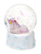 65mm Unicorn Snow Globe Decoration - PINK - Gigi Queen Adventures in Unicorn Land