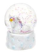 45mm Unicorn Snow Globe Decoration - WHITE - Gigi Queen Adventures in Unicorn Land