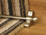 eXtreme® Jubilee Stair Rods ~ Satin Nickel - Easy Rods to fit - Good Quality Hollow Stair Carpet Runner Bars Affordable Cheap and New