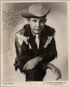 JIM REEVES AUTOGRAPH GLOSSY PHOTO PRINT APPROX SIZE 30cm X 20cm