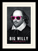 """William Shakespeare """"Big Willy"""" Mounted and Framed Print, Multi-Colour, 30 x 40 cm"""