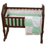 BabyDoll Baby King & Queen Cradle Bedding, Green, 38cm x 80cm