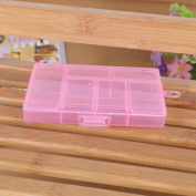 Sinfu 1PC Storage Case Box Holder Container Pills Jewellery Nail Art Tips 6 Grid