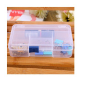 Sinfu 1PC Storage Case Box Holder Container Pills Jewellery Nail Art Tips 5 Grids