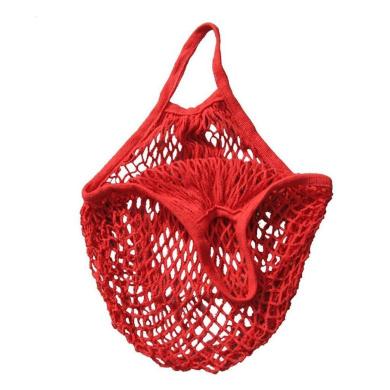 Sinfu Storage Handbag Turtle Bag String Shopping Bag Reusable Fruit Totes (Red)