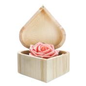Sinfu 1PC Storage Box Portable Wooden Organiser Case Heart Hexagonal Gift