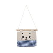 Sinfu Storage Bag Cotton Cartoon Cat Hanging Organisers Wall Combination