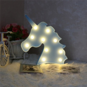 Decorative LED Desk Light,AMZSTAR Unicorn Marquee Light Wall decor Sign Night Light Bedside Room Decor