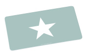'Infinite by Geda Labels (Infkh) Stars – Large Star Melamine Breakfast Board, Turquoise, 13998 Board 23.5 x 14 x 0.5 cm