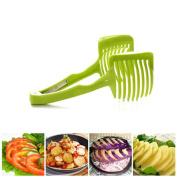 OUNONA Fruit Vegetable Slicer Tomato Clamp Universal Slicer Lemon Slicer Divider Clip Onion Slicer Kitchen Utensil