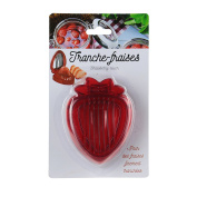 Totally Addict ku6352 Strawberry Slicer Red 7.50 x 3 x 9 cm Stainless Steel