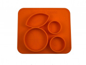 Baby Toddler Silicone Feeding Placemat - Sports Design - 100% Mess Free Kids Feeding Mat by Stick'ems - Eco-Friendly Suction Plate - Non-Slip, Food Grade Dinner Bowl - Great Shower Gift