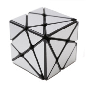 HJXD globle Axis Special Shape Magic Cube Black Kingkong with Silver Stickers