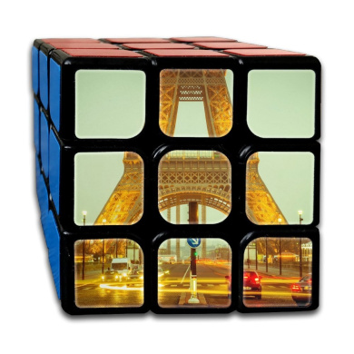 Magic Speed Cube: The Best Brain Training Game - Eiffel Tower 3X3 Puzzle Cube Brain Teasers Puzzles, Anti Stress For Anti-anxiety Adults Kids, Best Rubix Puzzle Toy