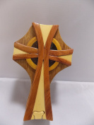 Celtic Cross Wooden Puzzle Jewellery Trinket Box by The Handcrafted