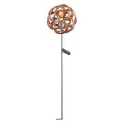 Solar Double Pinwheel Amber Ball Windspinner