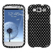 MYBAT SAMSIIIHPCIM974NP Compact and Durable Protective Cover for Samsung Galaxy S3 - 1 Pack - Retail Packaging - Black Vintage Heart Dots