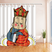 Cute Tang MonkShower Curtains By KOTOM Cute Tang Monk Sits and Thinks Bath Curtains, 180cm X 180cm