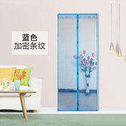 RUGAI-UE Soft Magnetic Mosquito Door Screen Invisible Screen Window Curtain Wear Free Encryption,100×210,Blue