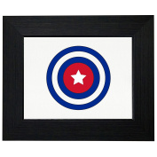 Cool Geeky Captain Cuba Shield Captain in America Framed Print Poster Wall or Desk Mount Options