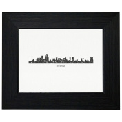 San Diego Skyline Silhouette Framed Print Poster Wall or Desk Mount Options