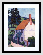 PAINTING DEVON COTTAGE FRAMED ART PRINT POSTER PICTURE WALL F12X10024