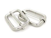 CRAFTMEmore Movable Bar Slide Rectangle Strap Adjuster Belt Keeper Slider Heavy Duty Quality Plating 4 Sizes Pack of 4